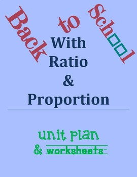 Back to School with Ratio and Proportion