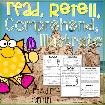 Reading Center- Read, Comprehend, Retell, and Illustrate S
