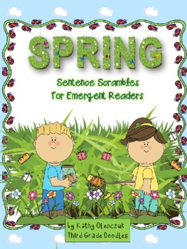 Spring Read-Think-Write-Draw -- Sentence Scrambles for Emergent Readers