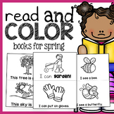 Spring Read and Color Books - Emergent Reader