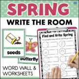 SPRING Word Wall + Write the Room