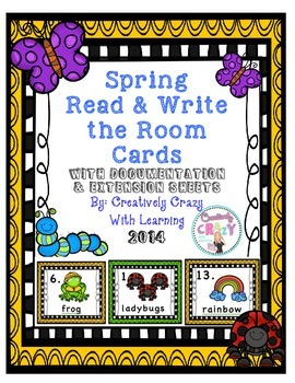 Spring Read and Write the Room Cards w/Extension Cards & D