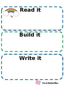 Spring Read it, Build it, Write it mats
