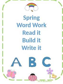 Spring Read it, Build it, Write it mats