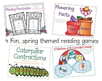 Spring Reading Centers 1st Grade
