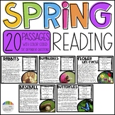 Spring Reading: Color Coded Reading Passages