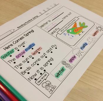Spring Reading Comprehension Fun - Kindergarten