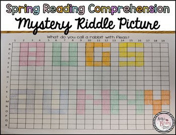 Spring Reading Comprehension Mystery Riddle Picture
