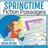 Spring Activities for Reading- Digital Springtime Fiction Passages Google Slides