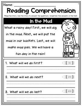 Spring Reading Comprehension Pack