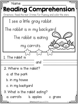 Kindergarten Reading Comprehension (Spring Edition)