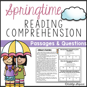 Spring Reading Comprehension Passages & Questions