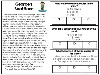 Spring Themed Reading Passages & Comprehension Questions for Primary Grades