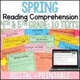 Spring Reading Comprehension - Digital Spring Reading Activities