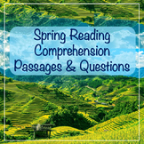 Spring Reading Comprehension Passages and Questions (use f