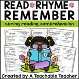 Spring Reading Comprehension Poems