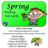 Spring Reading Comprehension Task Cards