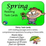 Spring Reading Comprehension Task Cards