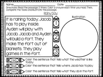 Spring Reading Comprehension and Fluency Passages