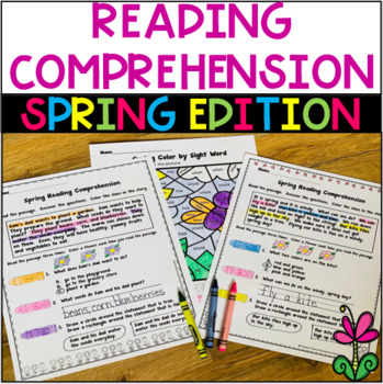 Spring Reading Comprehension and Sequencing Stories