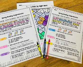 Spring Reading Comprehension and Sequencing Activities