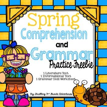 Spring Reading Comprehension-Freebie!