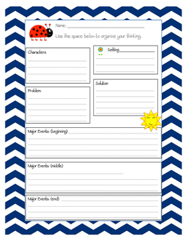 Spring Reading Graphic Organizer
