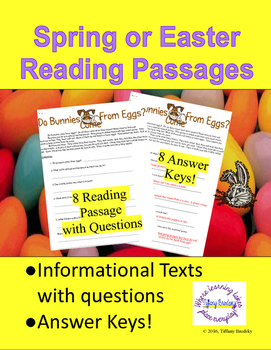 Spring or Easter Informational Reading Passages