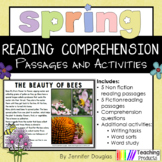 Reading Comprehension Passages and Questions Spring Theme