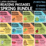 Spring Reading Passages for Intervention with Comprehension and Audio BUNDLE!