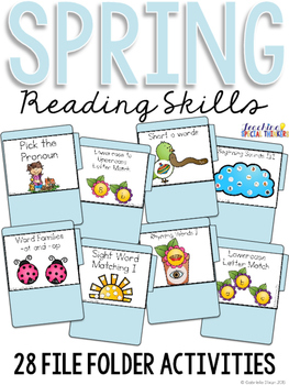 Spring Reading Skills File Folder Tasks (28 Tasks Included)