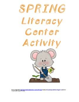 Spring Reading Skills Literacy Center Activity - Common Core Aligned