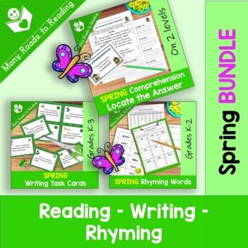 Spring Reading, Writing, Rhyming BUNDLE
