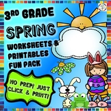 Spring Reading, Writing, Math, Fun Activities & Worksheets- 3rd Grade