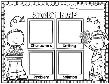 Spring Reading and Writing Graphic Organizers and All the Places to Love Unit