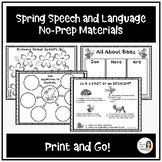 """Spring Speech and Language """"Print and Go"""" Materials"""