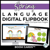 Spring Receptive & Expressive Language DIGITAL Flip Books