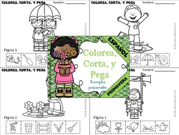Spring - Receptive and Expressive Language Pack - NO PREP {SPANISH} (PK-1)