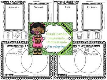 Spring - Receptive and Expressive Language Pack - NO PREP {SPANISH} (PK-1)