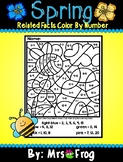 Spring Related Facts Color By Number Addition and Subtraction Picture