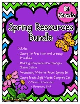 Spring Resources Bundle for First Grade