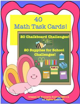 BUNDLE!   MATH CHALLENGES!  TASK CARDS!
