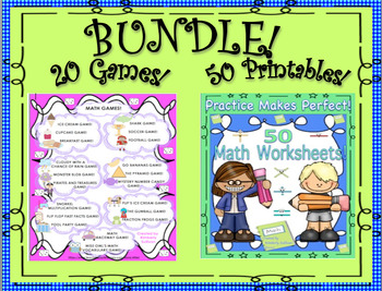 Back to School Review Math Bundle!  20 Games 50 Printables Grades 4 - 6