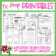 Math Review Worksheets for Spring {Fractions, Rounding, Ar