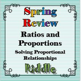 Spring Review The Proportion Equation Riddle Solving Proportional Relationships