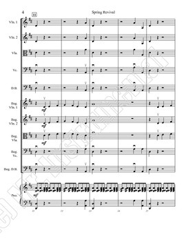 Spring Revival - An Easy Spirited Song for One or Two Young Orchestras
