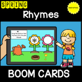 Spring Rhymes BOOM CARDS ™ Distance Learning