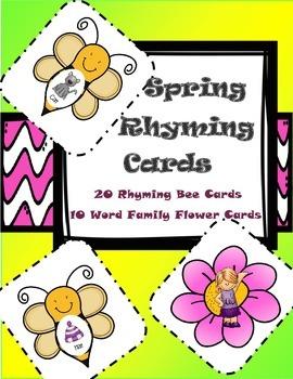 Spring Rhyming Cards