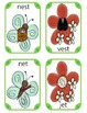Spring Rhyming Words: Butterfly and Flower Sets