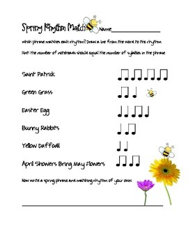 Spring Rhythm Match-Up